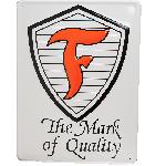 Metal Sign Firestone Shield
