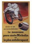 Vintage Bibendum Moto Metall Schild ca. 40 cm hoch, ca. 26,5 cm breit