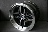 7,0x13 ET5 Max RS Design schwarz / poliert LK 4x108 Ford