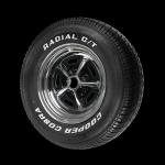 P215/70R14 96TTL Cooper M+S Cobra Radial GT white letter