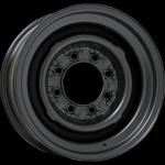 8.0x16 8-Lug Stahlfelge schwarz Pulverbeschichtet Lochkreis 8x6 1/2 Backspace 4´´