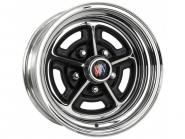 6.0x15 Buick Rallye chromed/black Lochkreis 5x4 3/4  -  Backspace 3 1/2´´