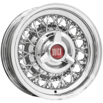 6.0x15 Buick Wire Wheel  Singlelug 5x5 Backspace 2,5´´