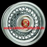 6.0x15 Cadillac Wire Wheel 48 Speichen TT Singlelug 5x5 Backspace 3´´