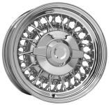 6.0x15 Chrysler Wire Wheel chromed Singlelug 5x4.5 Backspace 3´´