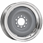 6.0x15 Hot Rod Steel Grundiert/chromed  Multilochkreis 5x5/5x5 1/2´´ Backspace 3.75´´