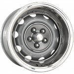 8.0x14 Mopar Rallye silver powder coat Lochkreis 5x4 1/2´´ - Backspace 4.5´´