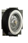 145/70R12 62S TL Michelin XZX ca. 35mm  MOR-Classic Weißwand