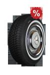 185R14 90H TL Michelin MXV-P ca. 25mm MOR-Classic Weißwand Sonderaktion