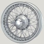 4.5X16 WW5917 TT, silver painted, R42, 60 spokes Vintage One-piece Ripped Hub MWS