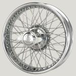 3.25x18 WW-5918 TT, chrome, R52, 60 spokes Vintage One-piece Ripped Hub MWS