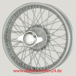3.25X18 WW-5918 TT, Silber, R52, 60 Speichen Vintage One-piece Ripped Hub MWS