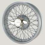 3.25X18 WW-5946 TT, silver painted, R52, 60 spokes Vintage One-piece Plain Hub MWS