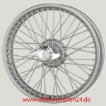 2.5X19 WW-5771 TT, silber, R42, 48 Speichen Curly Hub outer laced