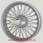 4.0X18 WW5799 TT, silver painted, R52, 72 spokes Flat Hub (Easy Clean) MWS