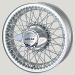 5.0X16 XW-456 TL, silver painted, R52L, 60 spokes Ripped Hub MWS