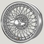 5.5X15 XW457 TL, chrome, R42, 72 spokes Curly Hub MWS