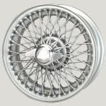 5.5X15 XW-480 TT, silver pinted, R42, 72 spokes Curly Hub MWS