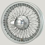 5.0X16 XW-5722 TL, silver painted, R52, 72 spokes Flat Hub (Easy Clean) MWS