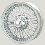 5.0X16 XW-5723 TL, silver painted, R42, 72 spokes Curly Hub MWS