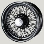 6.0X15 XW-5726 TL, black painted,  R42, 70 spokes Curly Hub MWS
