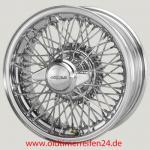 6.0X15 XW-5745 TL, chrom, R52, 72 Speichen Curly Hub MWS Jaguar E S1 - 1 1/2 Competition