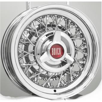 6.0x15 Buick Wire Wheel  Singlelug 5x5 Backspace 2,5´´