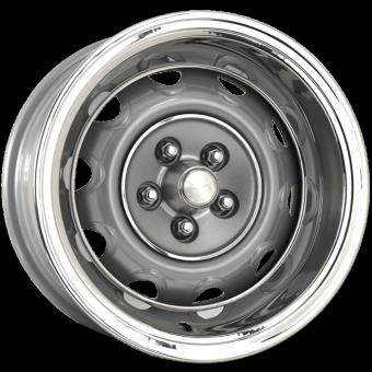 7.0x15 Mopar Rallye silver powder coat Lochkreis 5x4´´ - Backspace 4,25´´