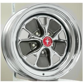 7.0x15 Mustang Styled Steel Bolt pattern 5x 4 1/2´´ Backspace 4.25´´