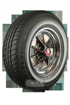 6,0x14 LK 5x4,5´´, BS 4´´ Mustang Styled Steel  205/70R14 93S Maxxis MA-1 20mm Weißwand M+S Komplettrad, montiert und gewuchtet