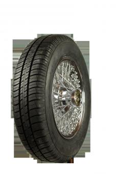 XW458C Speichenrad 4.0x13 MWS chrom 155/80R13 78T Kleber Viaxer Komplettrad inkl. Montage und Wuchtung
