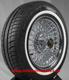 195/60R15 88V TL Michelin Energy Saver + ca. 20mm MOR-Classic Weißwand