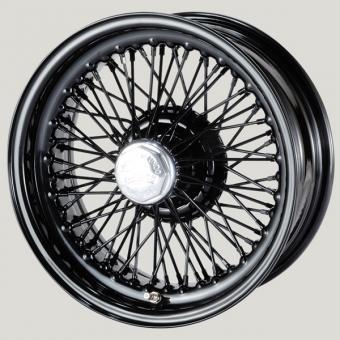 6.0X15 XW-5726 TL, black painted,  R42, 70 spokes Curly Hub MWS