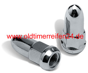 Radmuttern Bullet chromed - 7/16 Zoll