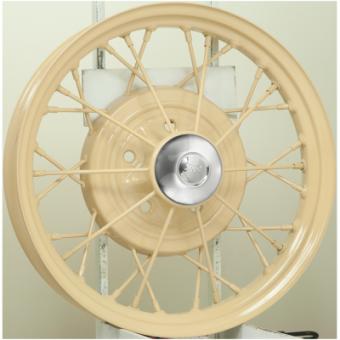 3.0x21 Speichenrad Ford Model A Grundiert Lochkreis 5x5 1/2 - Speichen drehbar