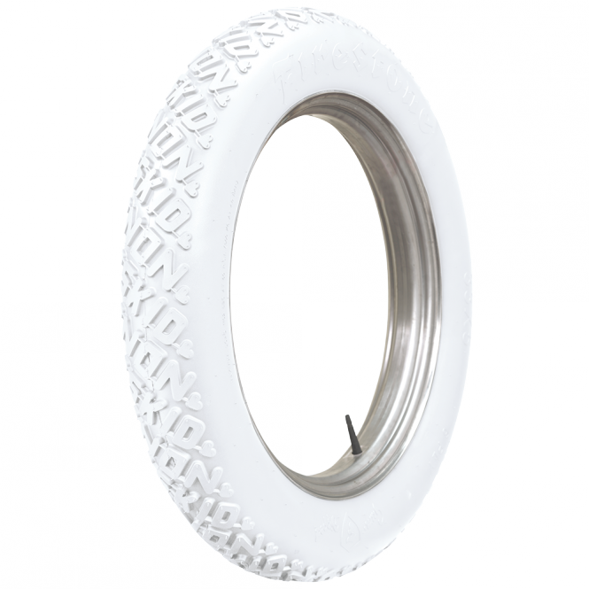 34X4 1/2 Firestone Non Skid  25 Zoll Straight Side all white