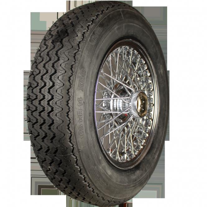 XW515C Speichenrad 4.5x14 MWS chromed 165R14 84H Michelin XAS inkl. Schlauch Komplettrad montiert und gewuchtet