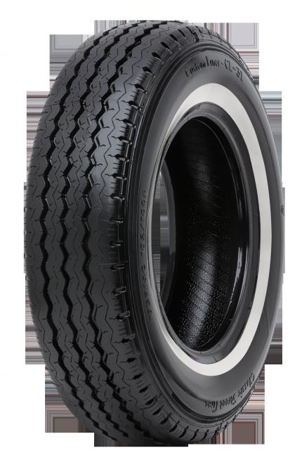 185R14 C 102/100R TL 8 PR Classic Street Tires Custom Liner CL-31 Weißwand 27mm 185/80R14, 185R14C