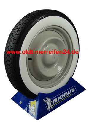 135R15 72S TL Michelin ZX ca. 50mm MOR-Classic Weißwand