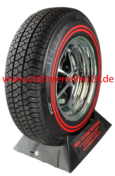 185R14 90H TL Michelin MXV ca. 10mm MOR-Classic Double Redline