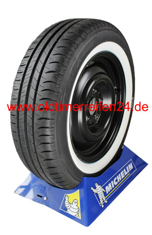 195/60R15 88V TL Michelin Energy Saver + ca. 40mm MOR-Classic Weißwand