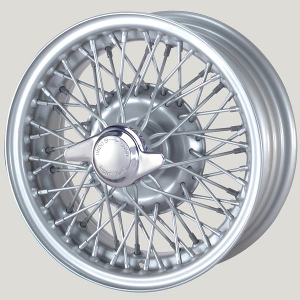5.0X13 XW-5785 TL silver painted, R42, 60 Spokes Curly Hub MWS
