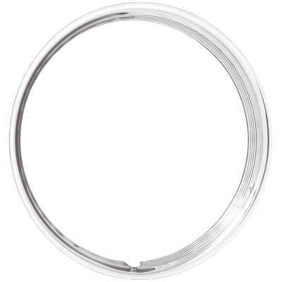 Trim Ring - 17 Inch Hot Rod Ribbed Stainless